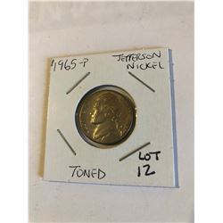 1965 P Jefferson Nickel Toned High Grade
