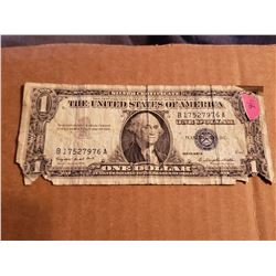 1957 A Series One Dollar Silver Certificate