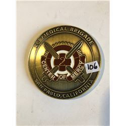 EXTREMELY RARE Large 2d Medical Brigade Challage Coin by General