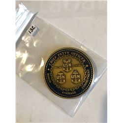 RARE US Naval Challage Coin CHEIF PETTY OFFICERS