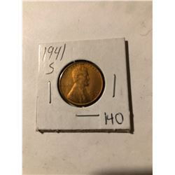 1941 S Wheat Penny Great Detail