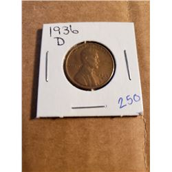 1936 D Wheat Penny