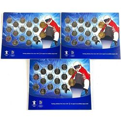 Lot (3) 2010 Vancouver Coin Sets in Display Folio