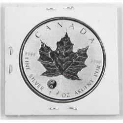 2016 .9999 Fine Silver Maple Leaf 5.00 Coin with P