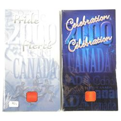 Lot (2) Celebration Canada 25 Cent. Special Issues