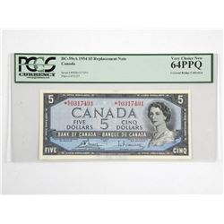 Bank of Canada 1954 Five Dollar *Replacement Note