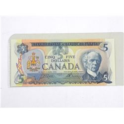 Bank of Canada 1979 Five Dollar Note. UNC BC53b
