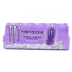 (1) Case (24) Cans - Monster Energy Drink ultra Vi
