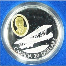 925 Sterling Silver Proof $20.00 Coin Aviation Ser