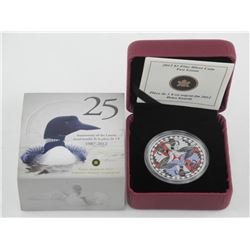 2012 .9999 Fine Silver $1.00 Coin 'Two Loons' (SIR