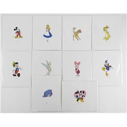 Lot (10) Disney Serigraphics 4x6""