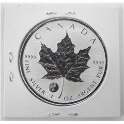 2016 .9999 Fine Silver $5.00 Maple Leaf Reverse
