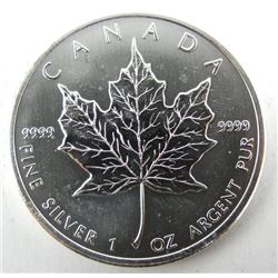 .9999 Fine Silver $5.00 Coin 2011 Maple Leaf