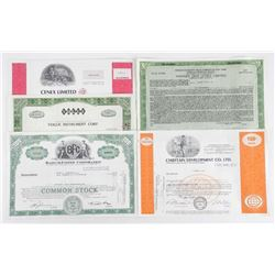 Lot of (5) Share Certificated - Original.