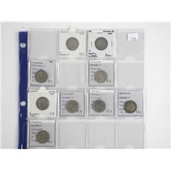 Lot (9) Great Britain Shilling Coins Identified (S
