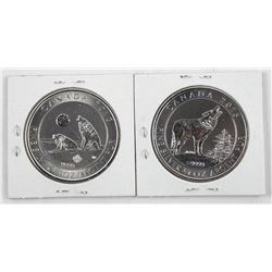 Lot (2) 2015-2016 $2.00 Coins 'Howling Wolves' .99