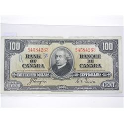 Bank of Canada 1937 $100.