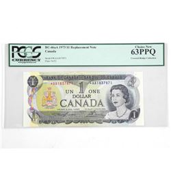 Bank of Canada $1 Replacement Note. Covered Bridge