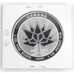 1867-2017 Canada 150 Medal 'Flag and Goose' .9999