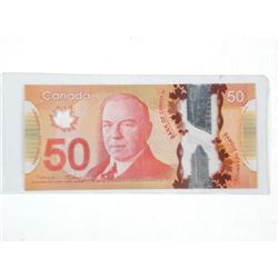 Bank of Canada 2012 Fifty Dollar Note.