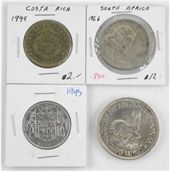 Estate Lot of (4) Coins with Silver. South Africa,