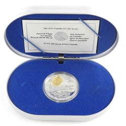 925 Sterling Silver $20.00 'The Avro Canada' with 24ktåÊGold Plated Cameo with C.O.A.