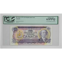 Bank of Canada 1971 * Replacement 10.00 (DA) Covered Bridge Collection UNC 63. PCGS