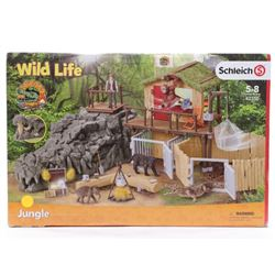 Schleich Wild Life Croco Jungle Research Station T