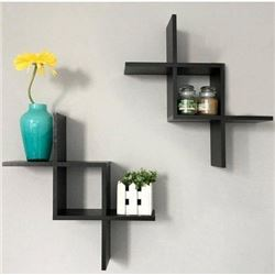 Greenco Criss Cross Intersecting Wall Mounted Floa