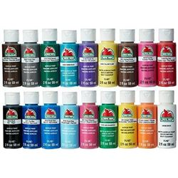 Apple Barrel Acrylic Paint Set- 18 Piece (2-Ounce)