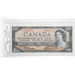 (LUN 23) Bank of Canada 1954 One Hundred Dollar No