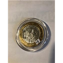 Silver Strike $10 Casino Coin .999 Fine Silver Limited Edition SAMS TOWN *MYSTIC FALLS PARK* SQUIRRE