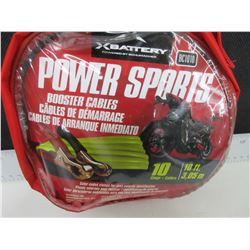 New 10ft Power Sports Booster Cables for ATV / SxS / Sleds and Bikes