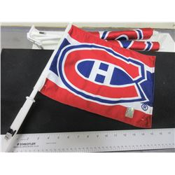 3 New Montreal Canadians Car Flags / NHL Hologram