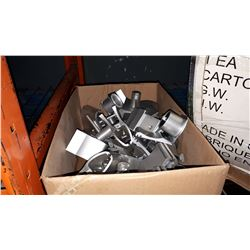 BOX OF ALUMINUM SPRING CLAMPS