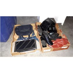 2 TRAYS OF PURSES AND SHOES