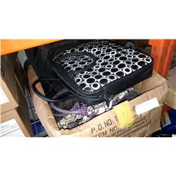 BOX OF BAGS AND BACKPACK