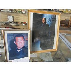 AUTOGRAPHED PHOTO OF FOREST WITAKER AND SMALL PICTURE OF STEVEN SEGUL