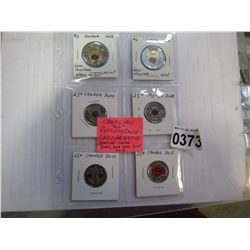CANADIAN REMEMBRANCE DAY AND ARMISTICE SPECIAL COINS 2004, 2008, 2010, 2015, 2018