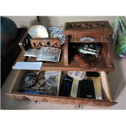 CASE OF LIGHTERS AND BELT BUCKLES