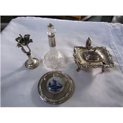 METAL CANDLE HOLDER, CONTAINERS AND CRYSTAL JAR