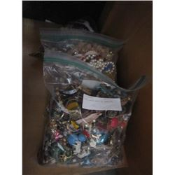 THREE LARGE BAGS OF JEWELLRY