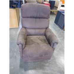 BROWN MICRO SUEDE LAZY BOY RECLINER