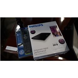 NEW OVERSTOCK PHILIPS DIGITAL TV 22DB AMPLIFIED ANTENNA WITH 8 IN 1 REMOTE