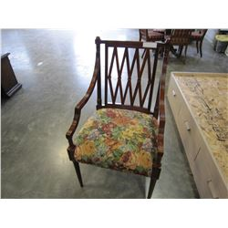 WOOD FRAMED SIDE CHAIR