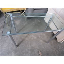 GLASS TOP MODERN ENDTABLE