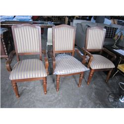 3 NEW ASHLEY UPHOLSTERED DINING CHAIRS RETAIL $249 EACH