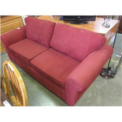 RED FLAIR DESIGN SOFA AND LOVE SEAT