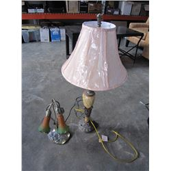 2 TABLE LAMPS AS IS