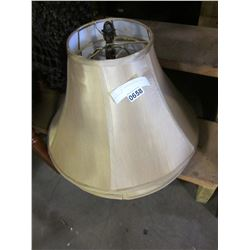 2 GOLD LAMP SHADES W/ACORN TOP DECORATION